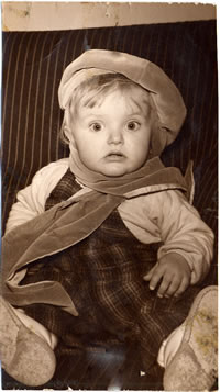 Lise Lunge Larsen as a baby